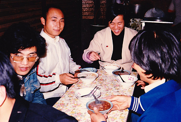 黄先生と食事